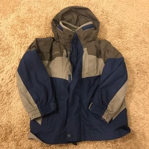 COLUMBIA/BUGABOO blue and gray jacket